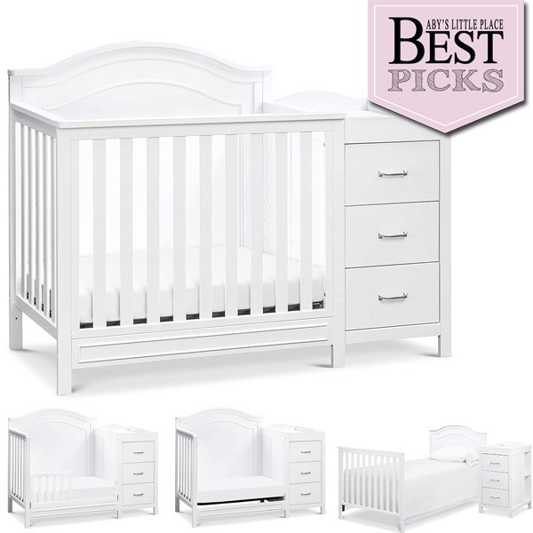 Best Convertible Mini Crib with Changer