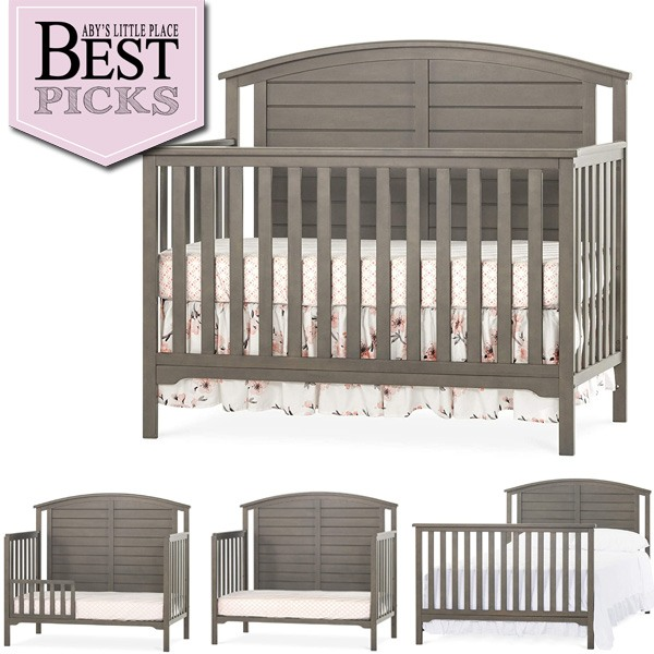 Best Farmhouse Cribs with Arched Back-Panel   Runner Up