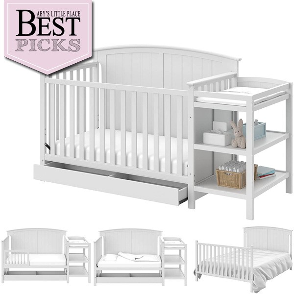 Best Farmhouse Cribs with Storage   Most Storage Space