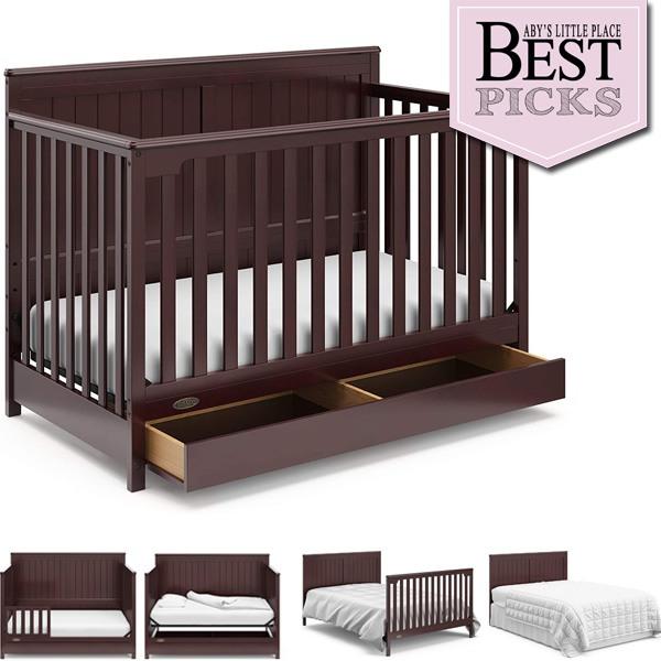 Best Farmhouse Cribs with Storage   Best Under-Crib Drawer